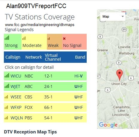 Getting False TVFool Report - TV Fool on